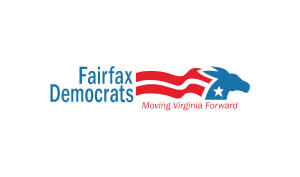 Julie Waters VO Fairfax County Democratic Committee Logo